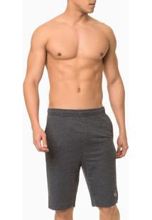 Bermuda Moletom Masculina Ck One Chumbo Loungewear Calvin Klein - S
