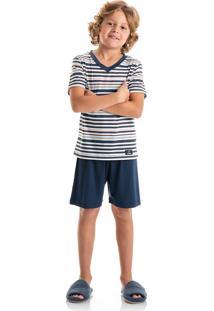 Pijama Bruno Infantil Azul Scuba/02