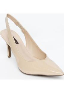 Sapato Chanel Em Couro Com Recortes - Bege Claro - Sjorge Bischoff