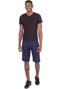 Bermuda Fatal Jeans Slim Confort Fit Masculina - Masculino-Azul