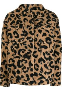 Apparis Jaqueta Com Animal Print - Neutro