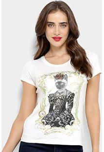 Camiseta Carmim Queen Cat Feminina - Feminino