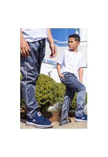 Calça Infantil Uniforme Escolar Tecido Helanca Cós De Elástico Bolso Traseiro Chumbo