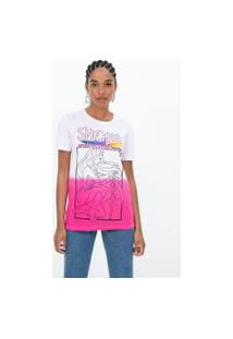 Camiseta Manga Curta Estampa She-Ra | She-Ra | Rosa | G