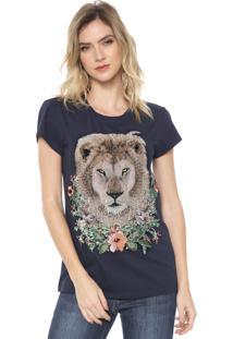 Camiseta Carmim Lion Pedraria Azul-Marinho