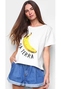 Camiseta Farm Banana Da Terra Feminina - Feminino-Off White