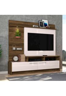 Estante Para Home Theater E Tv Até 60 Polegadas Ipanema Canela E Off White