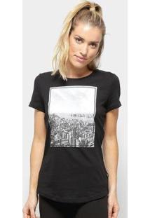 Camiseta Puma Graphic Photoprint Feminina - Feminino-Preto