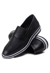 Sapato Social Premium Couro Confort Cor Preto