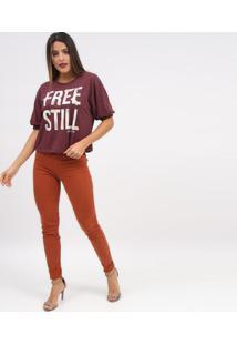 """Camiseta """"Free Still""""- Bordã´ & Off White- Tritontriton"""