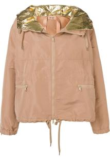 Nº21 Metallic Hood Jacket - Neutro