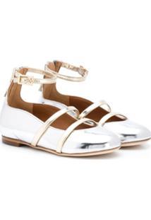 Malone Souliers Kids Robyn Smalls Ballerina Shoes - Prateado