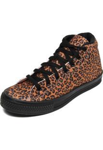 Tênis Dafiti Shoes Animal Print Bege/Preto