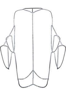 Nº21 Body Chain Com Aplicações - Metálico