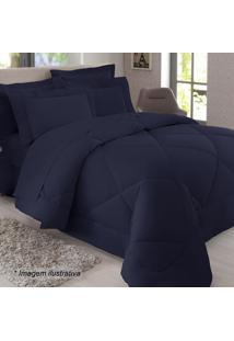 Edredom King Size - Azul Marinho - 250X290Cmsultan