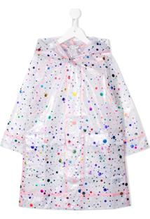 Stella Mccartney Kids Dotted Raincoat - Branco