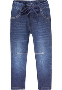 Calça Jeans Infantil Menino Com Amarração Play Jeans Hering Kids
