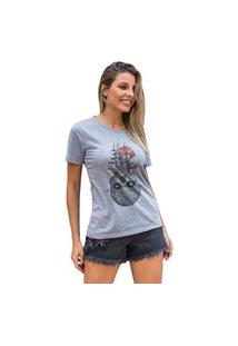 Camiseta Feminina Mirat Skull Sun Mescla