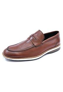 Sapato Social Pisa Forte Esporte Clássico Marrom