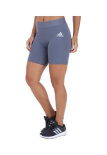 Bermuda Adidas Alphaskin Sport Tigth St7 - Feminina - Cinza Escuro