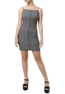 Vestido Curto Feminino Cinza