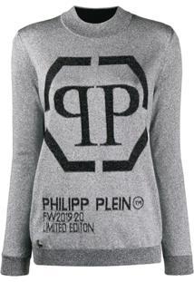 Philipp Plein Round Neck Pullover - Prateado