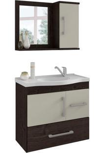 Conjunto De Banheiro Fortaleza Café E Off White