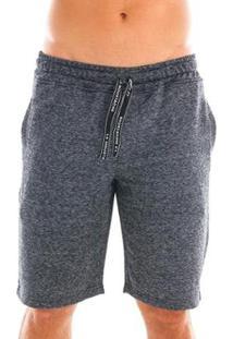 Bermuda Moletom Comfort Style Masculina - Masculino-Cinza+Preto