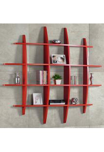 Prateleira Decorativa Grande Taylor 595 Vermelho - Maxima