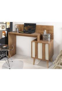Mesa Para Computador Com Nicho Dusk Buriti/Off-White – Caemmun