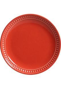 Prato Sobremesa Sevilha Cerâmica 6 Peças Vermelho Porto Brasil