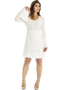 Vestido Com Plissado Ana Hickmann - Feminino