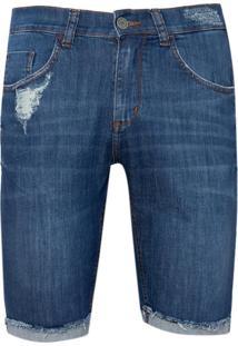 Bermuda John John Clássica Iorque Jeans Azul Masculina (Jeans Medio, 42)