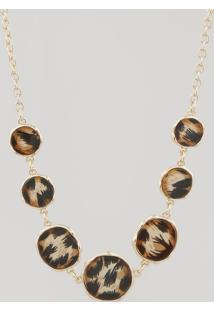 Colar Feminino Animal Print Dourado