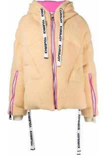 Khrisjoy Goose Down Hooded Jacket - Neutro