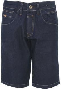 Bermuda Jeans Zune Reta Pespontos Azul - Kanui