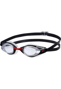 Óculos Para Natação Sr-71N Cristal Com Preto Swans