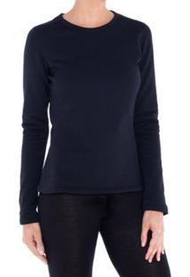 Camiseta Segunda Pele Térmica Thermal Stretch Solo Feminina - Feminino-Preto