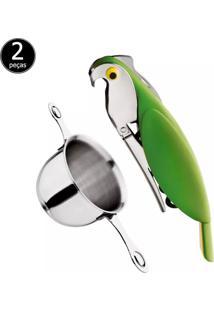 Kit Saca Rolhas E Dosador Whisk Euro Home 1509 Verde