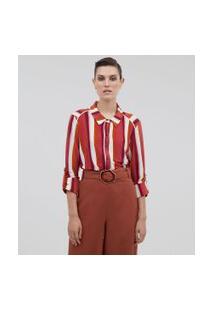 Camisa Listrada Em Jersey | Cortelle | Vermelho | P