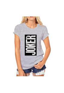 Camiseta Coolest Joker Quadro Cinza