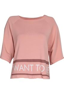 Camiseta Feminina Arrazantty Moletinho
