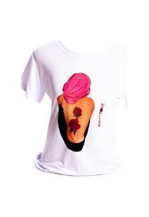 Camiseta Branca Prorider Bad Rose Personagem Autoral Nanami Nem Fell