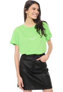 Camiseta Colcci Neon Look Ahead Verde