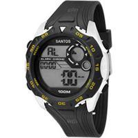 Okulos. Relógio Masculino Clubes Technos Santos Digital ... d9d001a54b