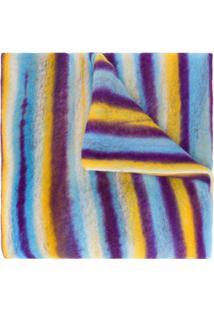 Missoni Cachecol Color Block Com Listras De Cashmere - Azul