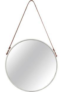 Espelho Decorativo Bart 36 X 67 Cm Off White