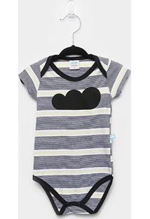 Body Infantil Marlan Bebê Listrado - Masculino-Azul