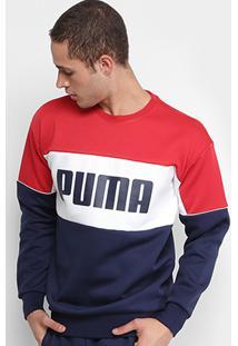Camiseta Puma Retro Crew Dk Masculina - Masculino 198b93e744708