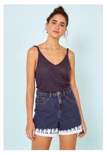 Bermuda Jeans Tie Dye Azul Medio/36